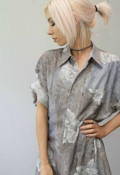 Vintage 80s/90s Oversized Floral Patterned Shirt / Dress | Slush Vintage | ASOS Marketplace