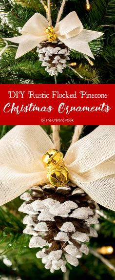 What is prettier than a rustic pinecone ornament? Some super cute Rustic Flocked Pinecone Christmas Ornaments of course!!! Learn how to make these cuties on the blog now!