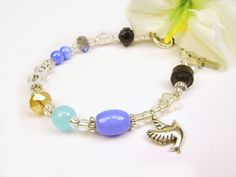 Memorial Bracelet, Gift for loss of mother, father, friend. Birthstone can be added to make more meaningful.
