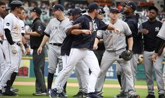 Justin Verlander and Victor Martinez nearly fought each other after fighting the Yankees  -  August 24, 2017:  Justin Verlander and Victor Martinez nearly fought each other after fighting the Yankees | For The Win