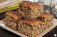 Confira este bolo formigueiro com cobertura de doce de leite! É fofinho e úmido! Fica perfeito acompanhado de um cafezinho!