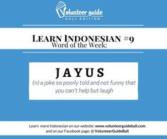 Learn bahasa Indonesia (Indonesian) with Volunteer Guide Bali!   Find over 40 + Indonesian language videos on our website: www.volunteerguidebali.com  Learn practical Indonesian Fast, and Easy!