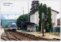 Gare D´Albens Côté Voies , Savoie - Une Photo Reproduite Carte Postale - Gares…