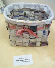Jenny's 'Newspaper Basket'