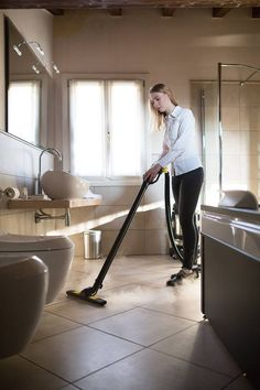 Fast tile and grout floor cleaning with steam vac machine #floor #tiles #steam #cleaning #accommodation