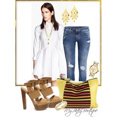 #331 by gorgeousmama29 on Polyvore featuring polyvore fashion style H&M Steve Madden De Beers Tory Burch POL Vince Camuto