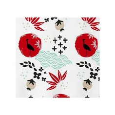 Japanese Springtime Fabric ❤ liked on Polyvore featuring home, home improvement and fabric