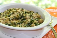 Easy Healthy Recipe: Rosemary, Spinach and Brown Rice Casserole