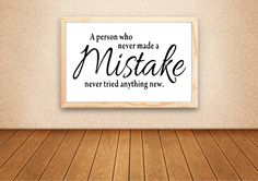 A - Person - Who - Never - Made - a - Mistake - Decal - Teacher - Decal - Classroom - decals - 24' Wide X 12'high - black - White - Traditional - Design ** Want additional info? Click on the image. (This is an affiliate link) #KidsRoomDecor