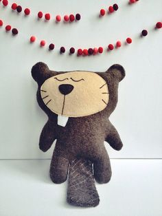 Mr Beaver, plush by virginiejolie