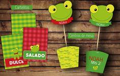 #SapoPepe #kitcumple Cartelitos comida #cajas para centros de mesa #imprimible #sapo