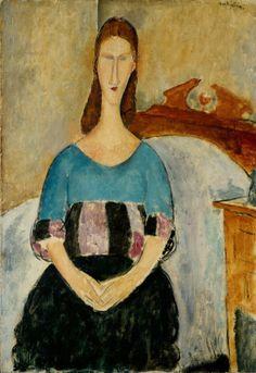 Amedeo Modigliani - Jeanne Hébuterne Seated, 1918