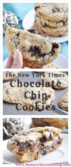 The New York Times Chocolate Chip Cookies.. outrageously delicious! Honey, Whats Cooking
