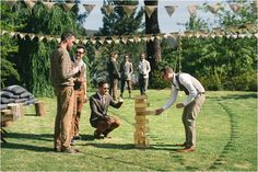 super relaxed wedding including giant jenga!