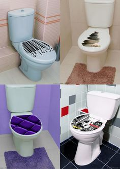 Decorating Toilets With Vinyl Stickers