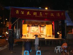 Local Festival having a Traditional Opera - Preparing behind the scenes - Front stage getting prepared