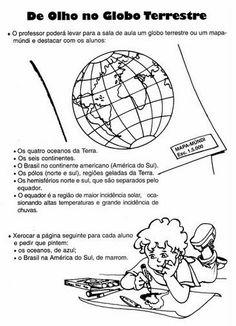 GEOGRAFIA 4° ANO ATIVIDADES EXERCÍCIOS ENS FUNDAMENTAL      Mapa Mundi - Planisfério - Cruzadas      Trabalhando com mapas e globo         ...