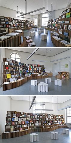 cardboard display - could be interesting for written work area? / reading section