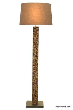 Modeco Drift Tall Cocoa Mosaic Floor Lamp