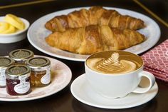 Coffee and croissants #breakfast #coffee #brunch #London http://www.squaremeal.co.uk/restaurant/the-strand-dining-rooms