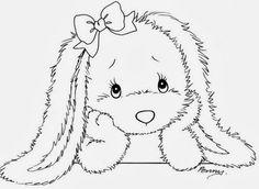 desenhos de coelhinhos para pintar em fraldas - Pesquisa Google