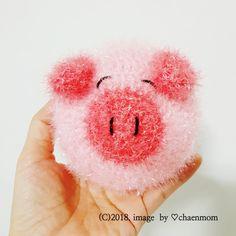 코바늘 수세미 뜨기/분홍 돼지 수세미 서술도안 : 네이버 블로그 Bead Crochet, Diy Crochet, Crochet Scrubbies, Crochet Gifts, Chrochet, Knitting Patterns, Diy And Crafts, Projects To Try, Stitch
