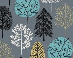 I Love Trees limited edition giclee print by EloiseRenouf on Etsy
