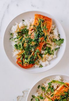Pan Seared Seared Salmon with Soy, Scallions, and Ginger. Need recipes and ideas for fast and easy weeknight dinners and meals you can make quick? This healthy fish dish is a hit!