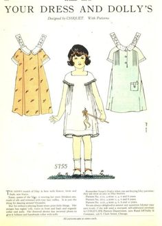 1927 chiquet paper doll with dresses 5755   eBay
