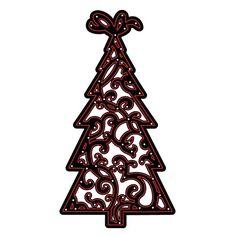 Darice® Craft Dies: Small Christmas Tree Die Cut with Embossing Stencil