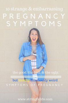 Strange and embarrassing pregnancy symptoms // weird pregnancy symptoms // what to expect during your pregnancy