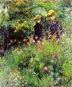 Conversation in a Rose Garden, 1876, Pierre-Auguste Renoir. (1841 - 1919) (photo by BoFransson)