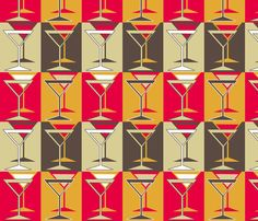 Martini Lounge fabric by holly_helgeson on Spoonflower - custom fabric