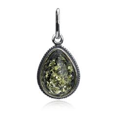 Sterling Silver Green Amber Filigree Pendant by Amber by GracianaTake for me to see Sterling Silver Green Amber Filigree