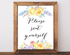 Instant download, Printable wall art, bathroom art, Please seat yourself…