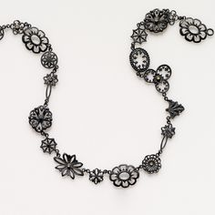 BETTINA FEHMEL | chain | silver oxidized | gold | diamonds