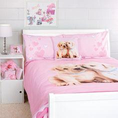 Cute girly dog themed bedroom bedding duvet cover in for Dog themed bedroom ideas