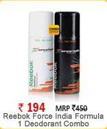 Reebok Force India Formula 1 Deodorant Combo