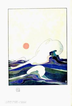 Art – Art nouveau – Seascape (Soleil d'hiver) International studio (1897)[1913]. Scan of 2 d images in the public domain believed to be free to use without restriction in the US.