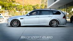 BMW 335i E91 Touring by Art99erformance. M3 front, slammed on Rotiforms.