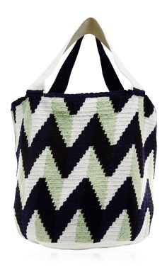 Large Zig Zag Shopping Bag by Sophie Anderson Sophie Anderson, Tapestry Crochet, Zig Zag, New Woman, Shopping Bag, Gym Bag, Chevron, Bags, Collection