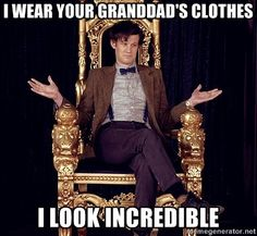 I just hurt myself laughing. He does, in fact, look incredible though.