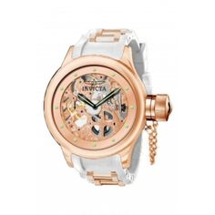 Brand:  Invicta    Collection:  Russian Diver Collection    Sub Collection:      Gender:  Men    Dial Color:  Rose Gold    Dial Material:  Sunray    Band Color:  White/RG Ins    Band Material:  Polyurethane/Stainless Steel    Case Type:  Stainless Steel    Case Tone:  Rose Gold    Case Diameter:  51.50    Strap Size:  26mm    Jewel:  10    No of diamonds:  0    Clasp Type:  Buckle    Crown Type:  Screw Down    Water Resistant:  50m    Movement:  Mechanical    Movement… $145.99