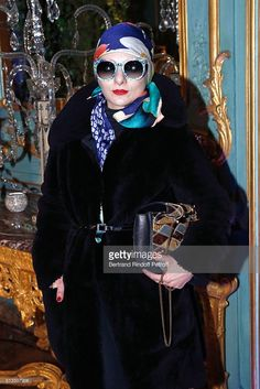 Fashion Icon Catherine Baba attends the 'International Women's Day Luncheon in Support of Equality and Safety for All' as part of the Paris Fashion Week Womenswear Fall/Winter 2016/2017. Held at the Residence of US Ambassador to France on March 3, 2016 in Paris, France.