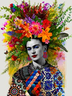 Frida Kahlo Diamantmalerei Mosaik – Fashion Trends To Try In 2019 Frida Kahlo Artwork, Frida Kahlo Portraits, Frida Art, Frida Kahlo Prints, Diego Rivera, Collage Kunst, Collage Art, Art Collages, Canvas Artwork