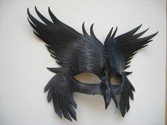 Leather Odin's Raven's mask by wingandtalon on Etsy