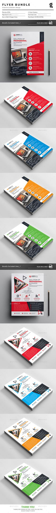 Flyer Templates PSD Bundle. Download here: https://graphicriver.net/item/flyer-bundle-2-in-1/17144651?ref=ksioks