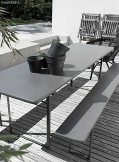 #Bierbank, #Grau, #Terrasse, #Garten,