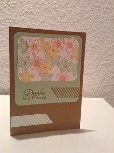 "Dankeskarte mit ""Petite Petals"""