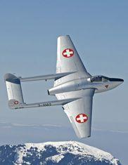 Swiss Air Force. De Havilland DH-100 Vampire, GB, 220x, 1946-1978